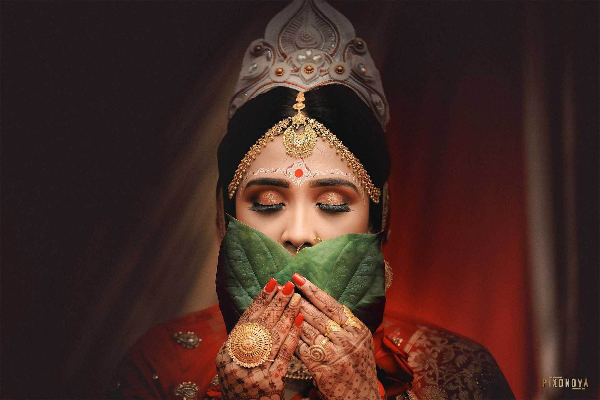 Bengali Wedding Bride Closeup