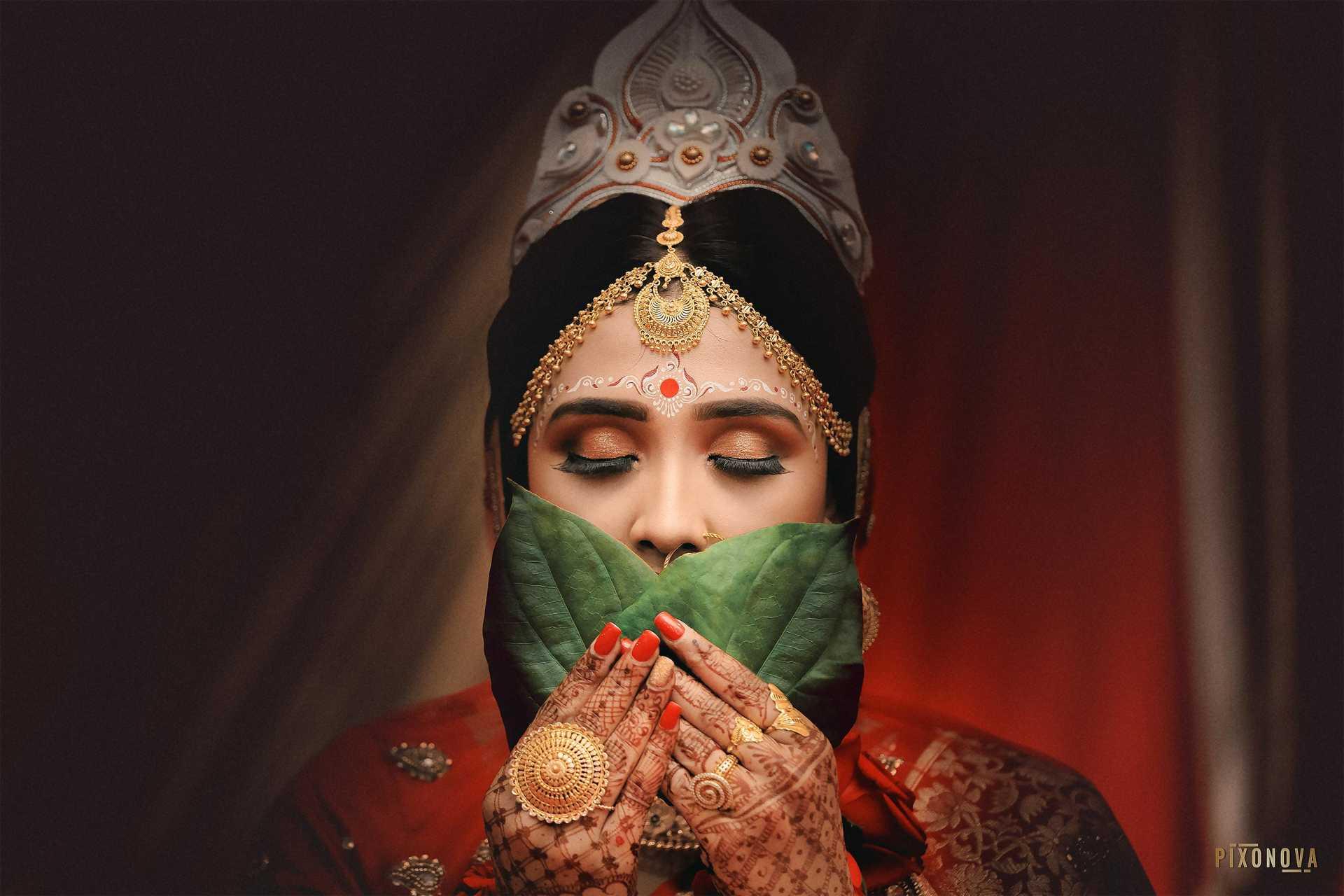 Bengali Wedding Bride Closeup