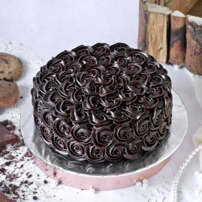 Chocolate Rose Cake - 1