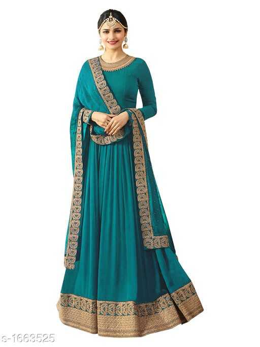 Vanya Gorgeous Faux Georgette Embroidered Womens Gowns - 1