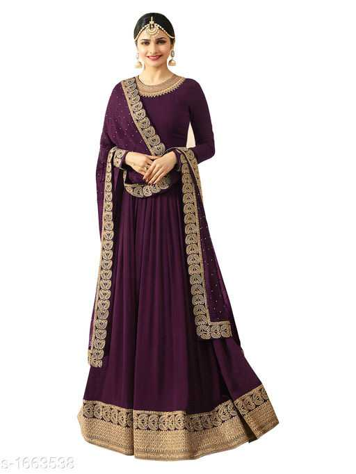 Vanya Gorgeous Faux Georgette Embroidered Womens Gowns - 3