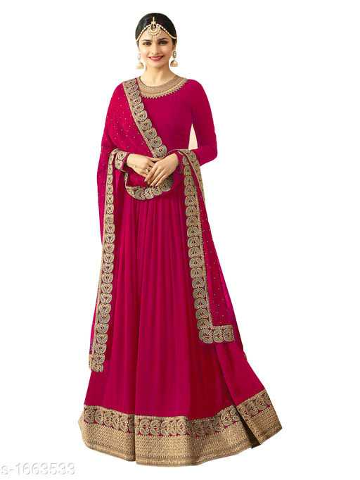 Vanya Gorgeous Faux Georgette Embroidered Womens Gowns - 2