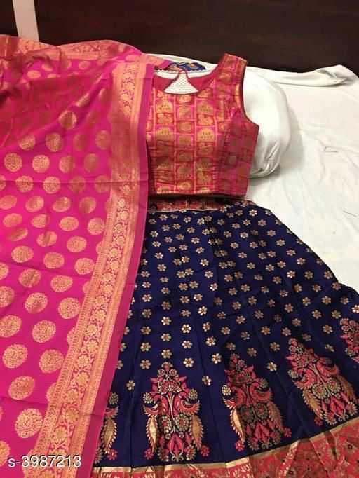 Stylish Banarasi Jacquard Silk Women's Lehenga - 1