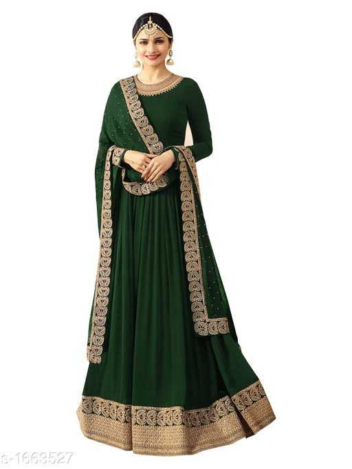 Vanya Gorgeous Faux Georgette Embroidered Womens Gowns - 4