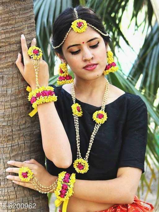 Haldi Bridal Diva Floral Jewellery Sets - 1