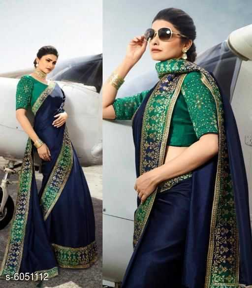 Trendy Silk Saree with Jacquard BP - 1