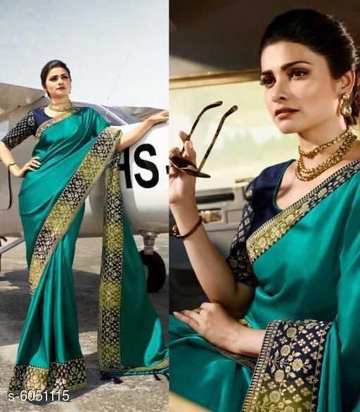 Trendy Silk Saree with Jacquard BP - 4